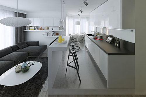 Kuchnia w stylu skandynawskim Jakie ściany, podłoga, meble, sprzęt AGD, doda   # Kuchnia Angielska Jakie Dodatki