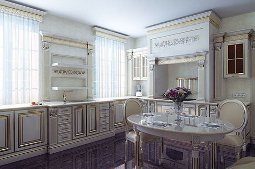 Kuchnia w stylu prowansalskim Jakie meble, ściany, podłoga, dodatki?  Aranż   -> Kuchnia Angielska Jakie Dodatki