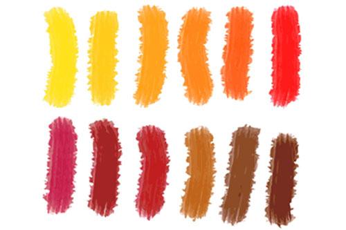 1083042b0f3b5d Ciepłe kolory: pomarańczowy, czerwony, żółty, ciepłe brązy, ciepła zieleń