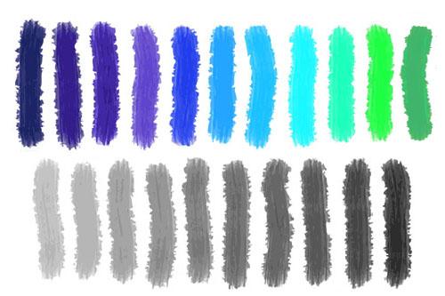 Zimne Kolory Niebieski Szary Fiolet Chłodna Zieleń