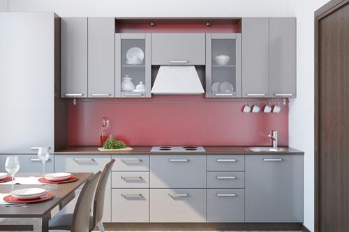 Szara kuchnia  projekty kuchni  Aranżacje kuchni -> Kuchnia W Bloku Kolory Ścian